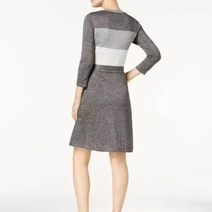 Calvin Klein Dresses - NWT Calvin Klein Silver Metallic Sweater Dress